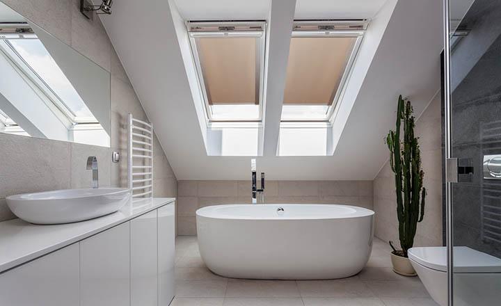 Estor para ventanas de tejado - para cuarto de baño