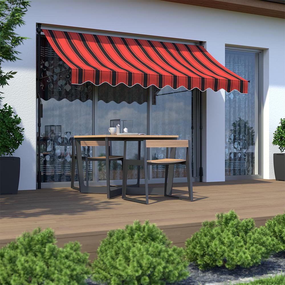 Toldo para Balcón, Producto Terminado, Negro y Naranja