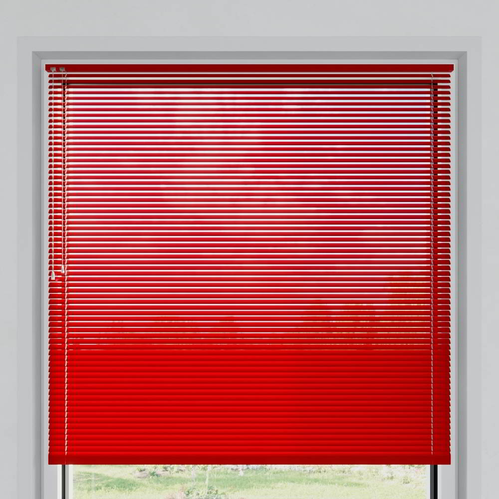 Veneciana de Aluminio 25mm, A Medida, Rojo