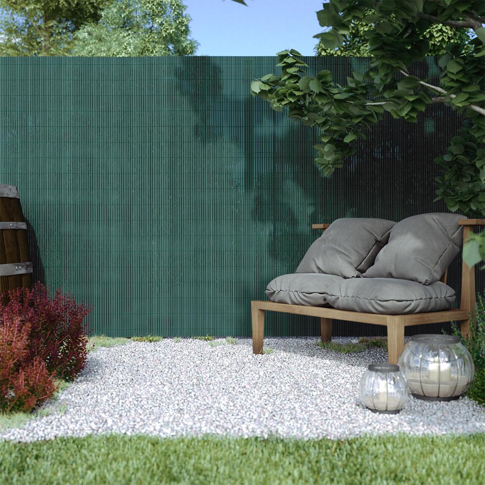 Cañizo de PVC para Jardín, Listón 13mm de Ancho, STANDARD, Verde