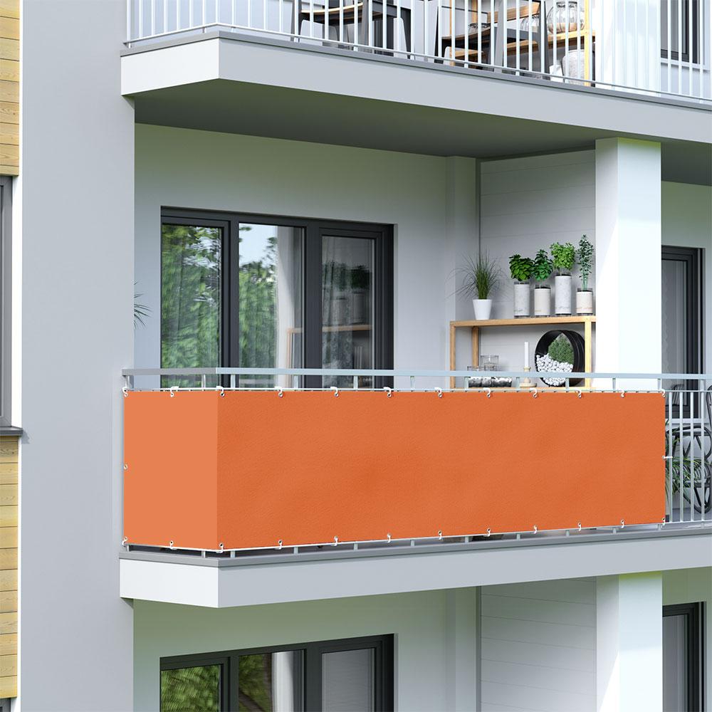 Malla de Ocultación para Balcón, BASIC, Tejido Impermeable, Naranja