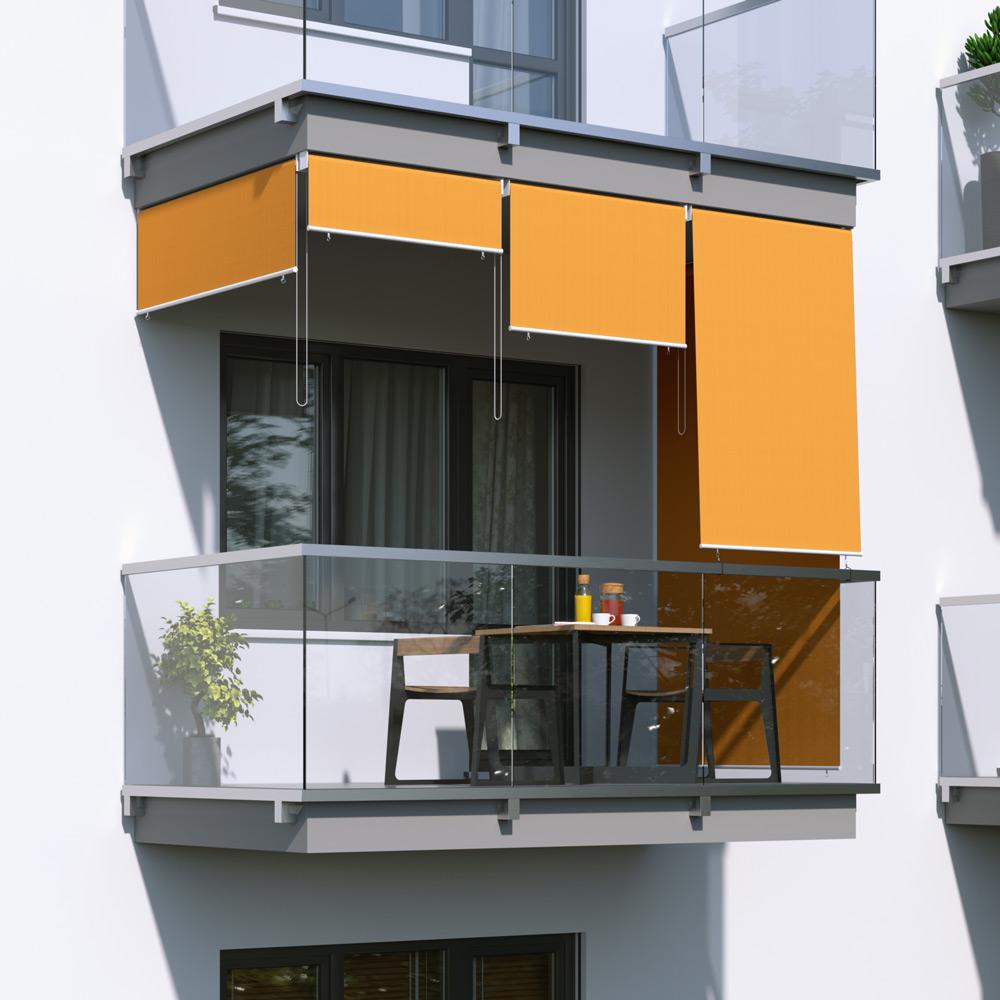 Toldo Vertical para Balcón, Producto Terminado, Naranja