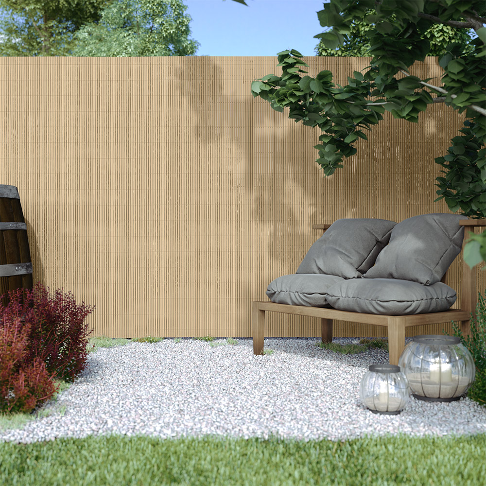 Cañizo de PVC para Jardín, Listón 13mm de Ancho, STANDARD, Bambú