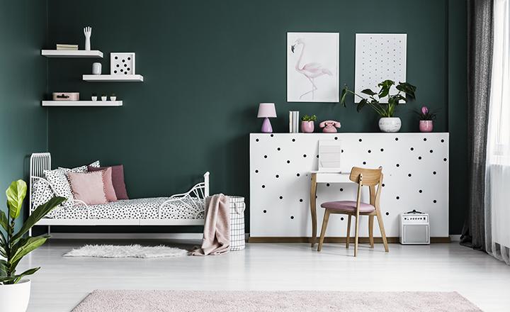 Cortina loneta/visillo para habitación del niño