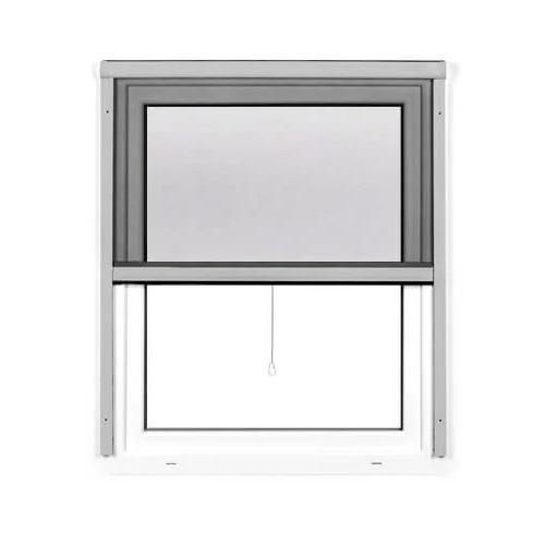 Mosquitera Enrollable Vertical 4 en 1, para Ventanas, Producto Terminado, Plateado