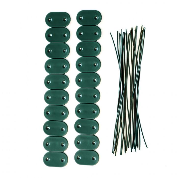 Kit de fijación para cañizos de PVC para jardín