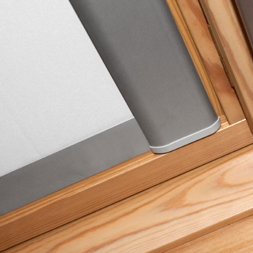 Estor para ventanas de tejado - estructura de aluminio y guía laterales