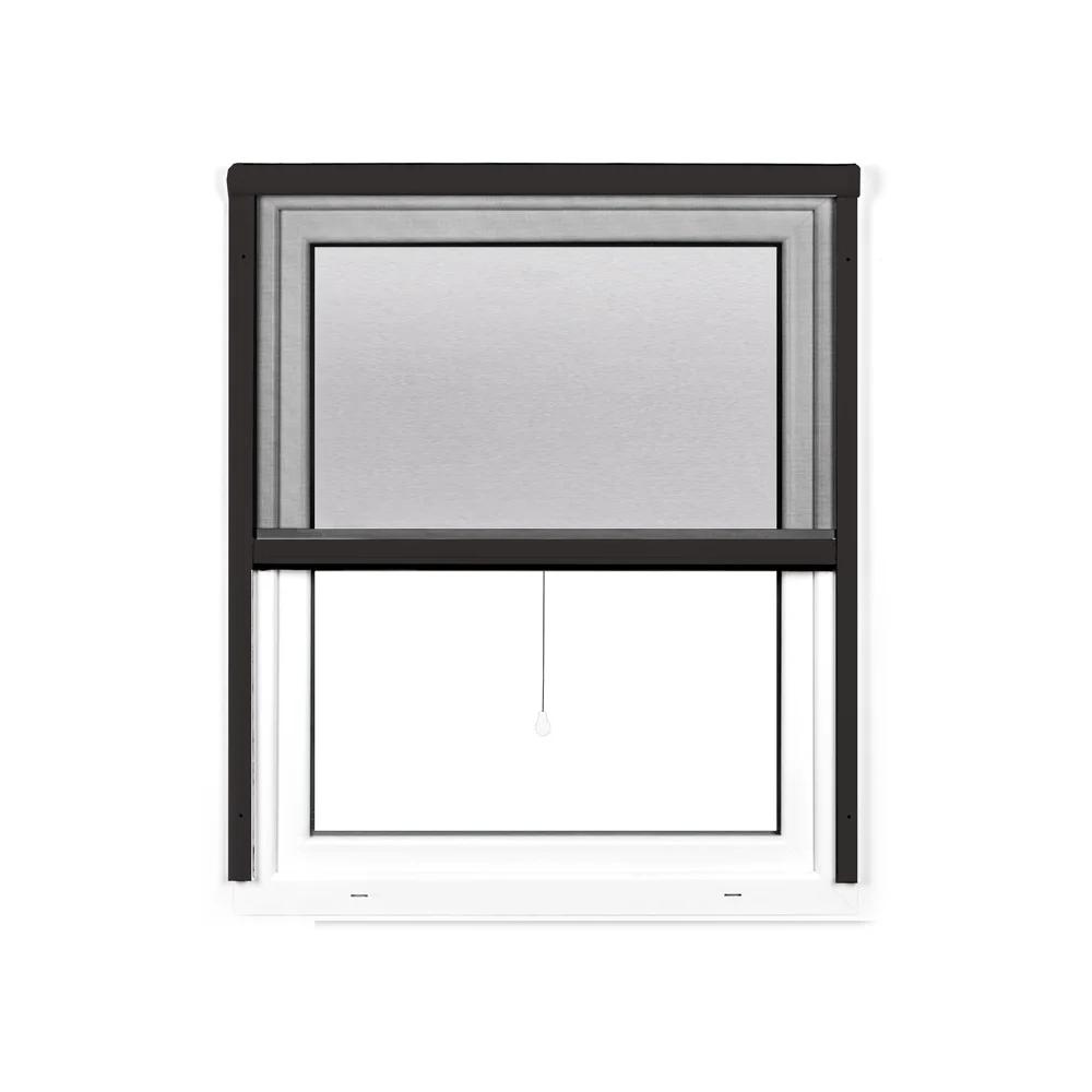 Mosquitera Enrollable Vertical 4 en 1, para Ventanas, Producto Terminado, Antracita