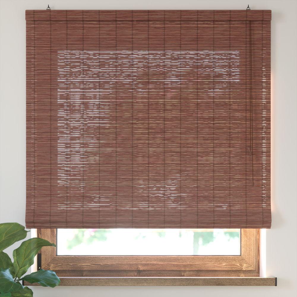 Estor Plegable de Bambú, Producto Terminado, Cereza