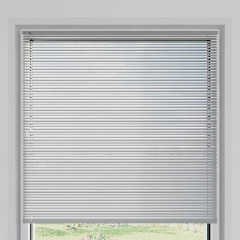Veneciana de Aluminio 25mm, A Medida, Blanco plateado