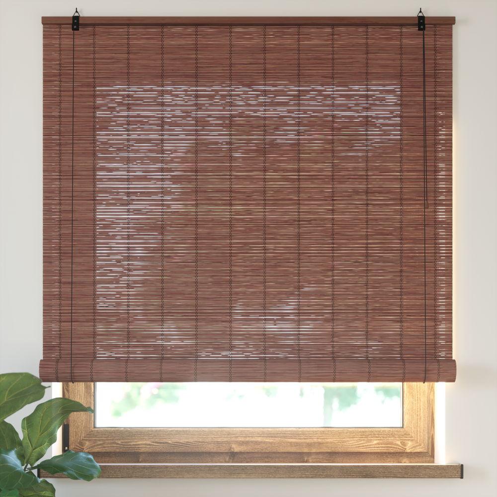 Estor Enrollable de Bambú, Producto Terminado, Cereza