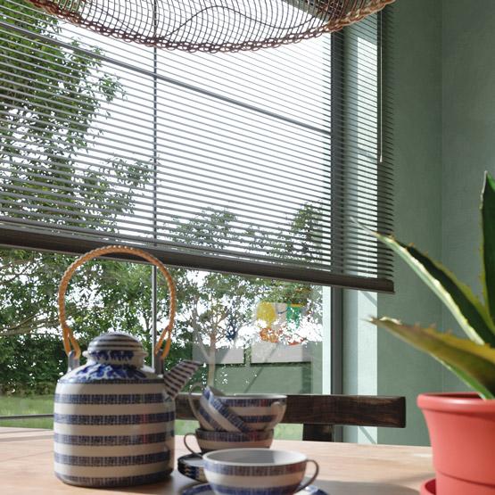 persianas venecianas de bambú a medida 25mm