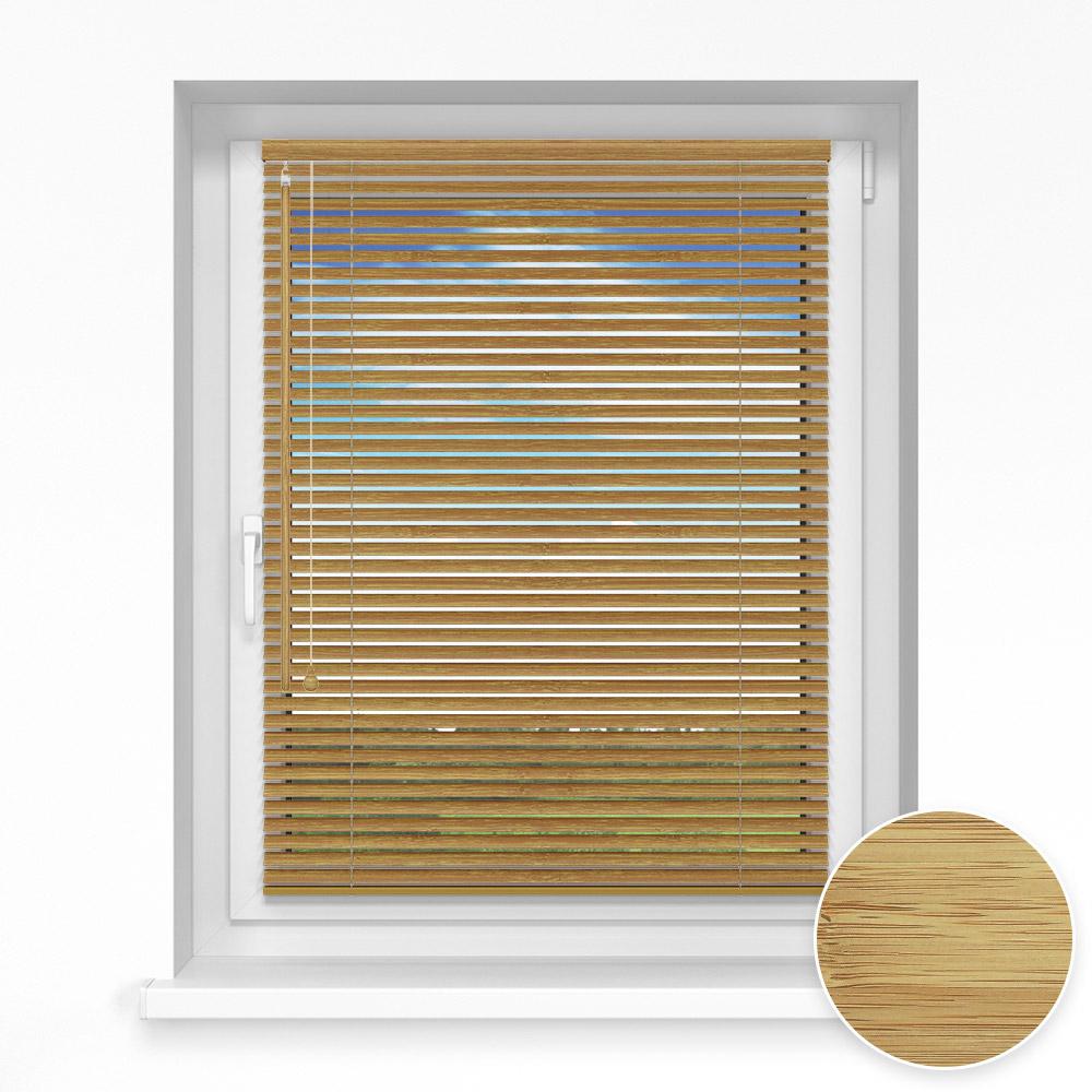 Persiana Veneciana de Bambú, 25mm, A Medida, Ajonjolí