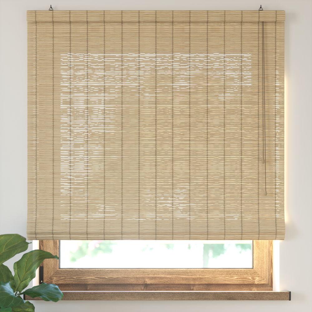Estor Plegable de Bambú, Producto Terminado, Natural