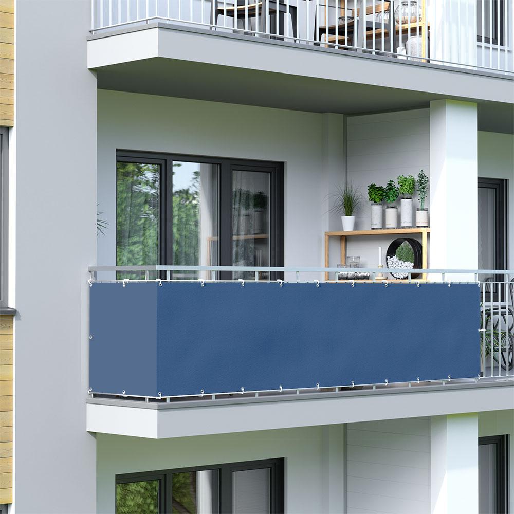 Malla de Ocultación para Balcón, BASIC, Tejido Impermeable, Azul celeste