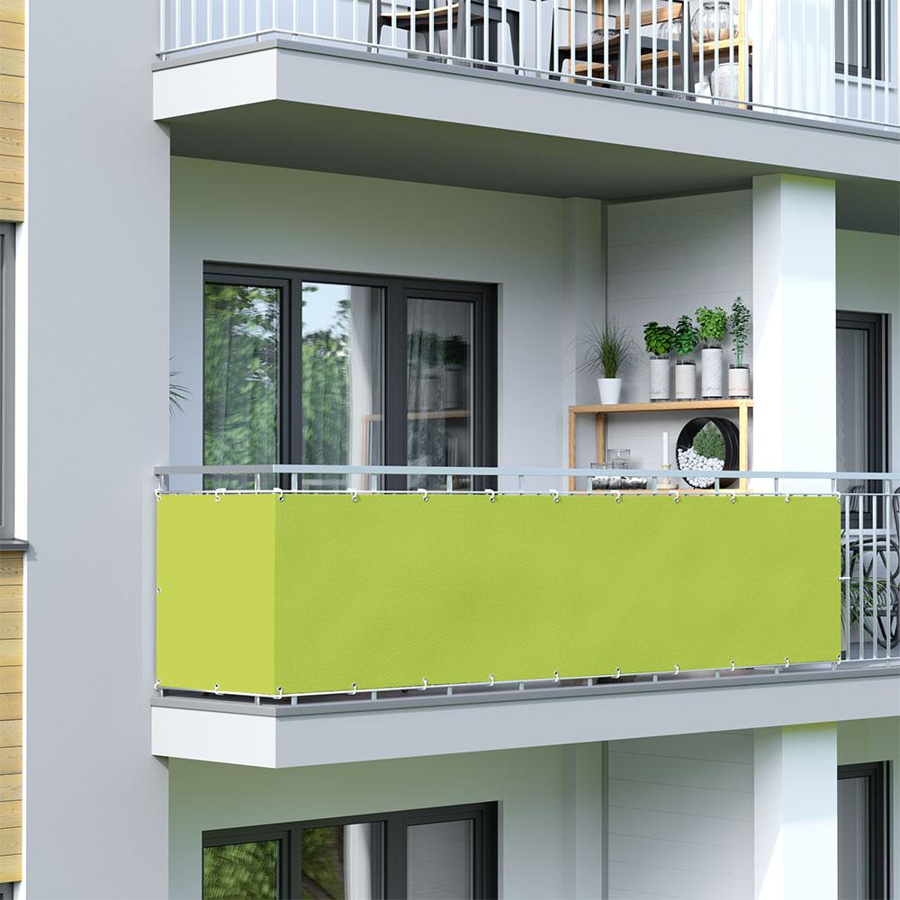 Malla de Ocultación para Balcón, BASIC, Tejido Impermeable, Verde claro