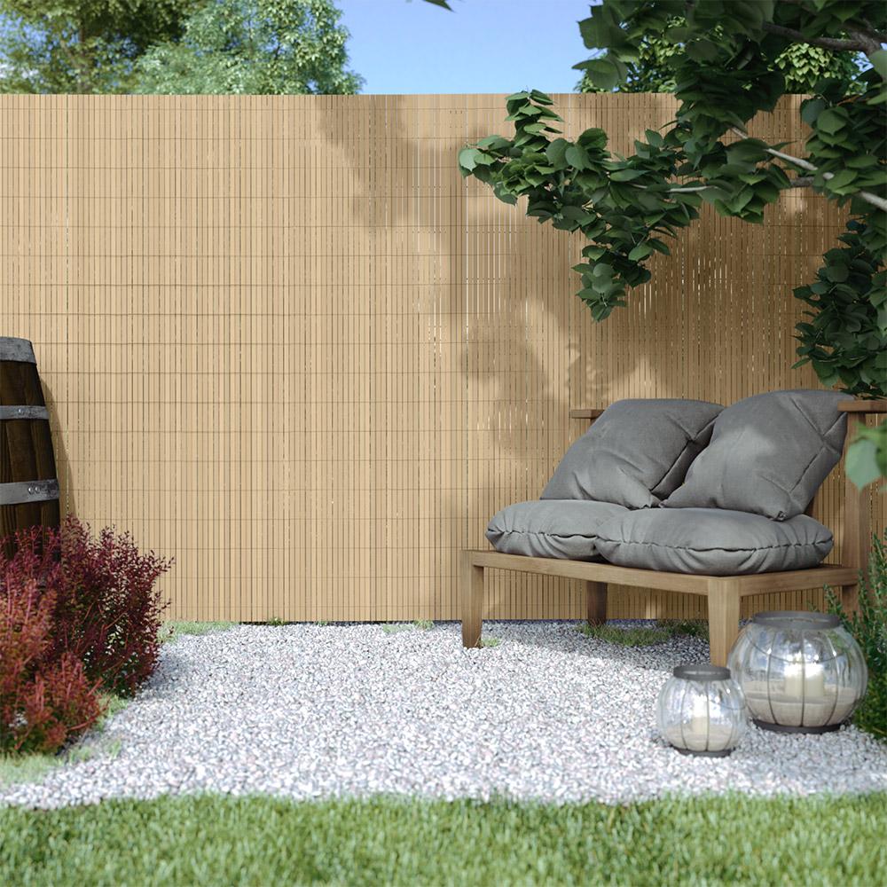 Cañizo de PVC para Jardín, Listón 17mm de Ancho, PREMIUM, Bambú