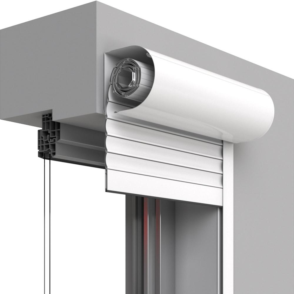 Persiana exterior con lamas de aluminio a medida premium for Ventanas de aluminio con persiana baratas