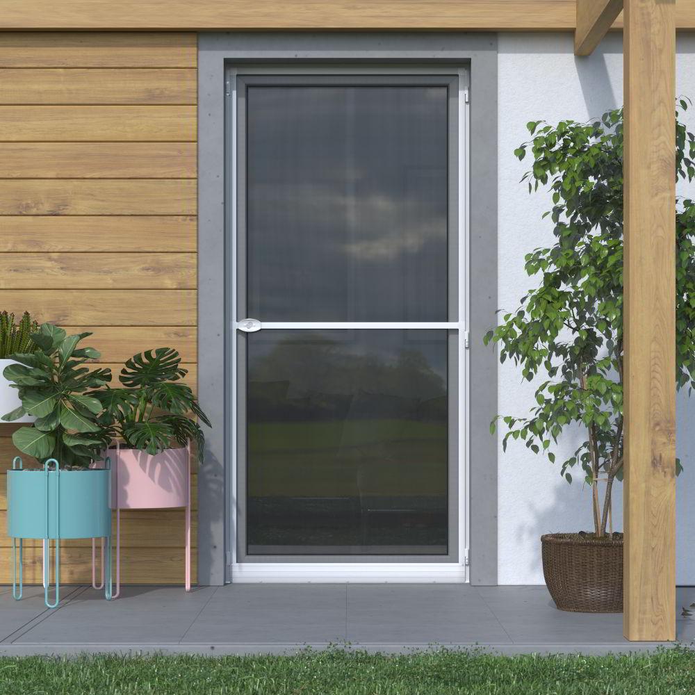Mosquitera Abatible, para Puertas, 120x220cm, Producto Terminado, Blanco
