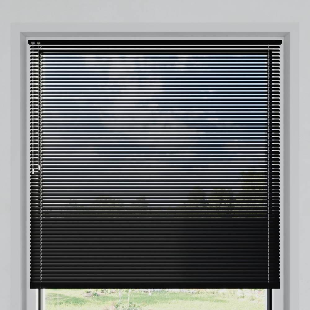 Veneciana de Aluminio 25mm, A Medida, Negro mate