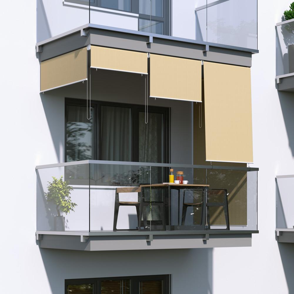 Toldo Vertical para Balcón, Producto Terminado, Arena