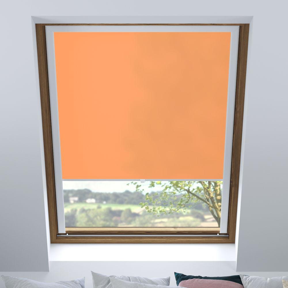 Estor para Ventanas de Tejado, A Medida, Translúcido, Naranja