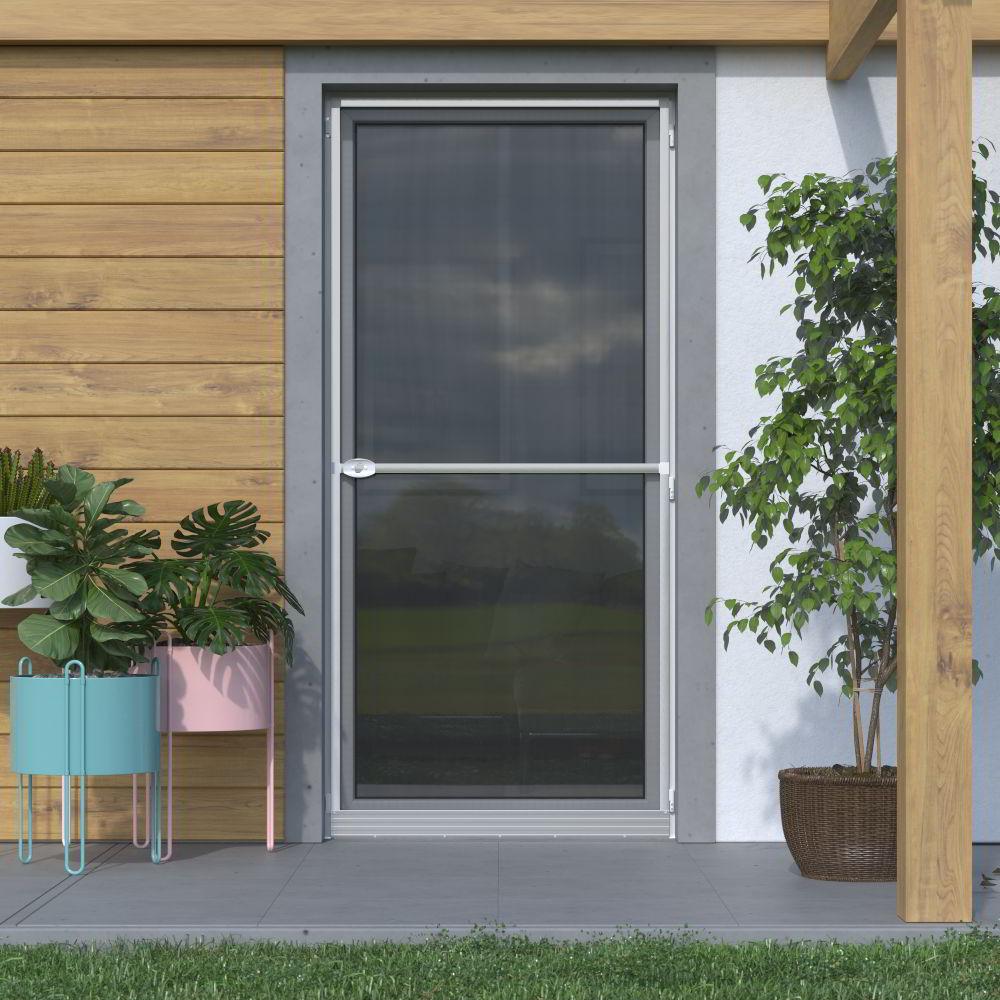 Mosquitera Abatible, para Puertas, 120x220cm, Producto Terminado, Plateado