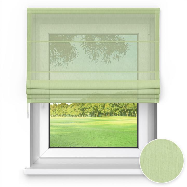 Estor Plegable Transparente, Easy, A Medida, Verde pasto