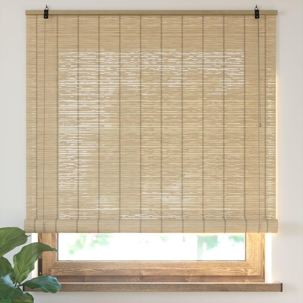 Estor Enrollable de Bambú, Producto Terminado, Natural