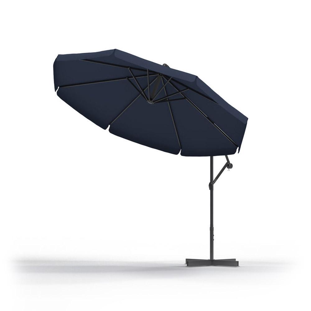 Sombrilla de Jardín, Redonda, 3 m, Azul oscuro
