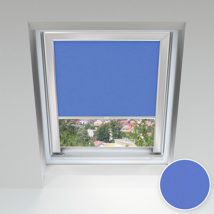 Estor para Ventanas de Tejado, A Medida, Azul cobalto