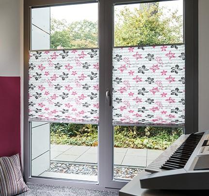 cortinas plisadas - doble apertura