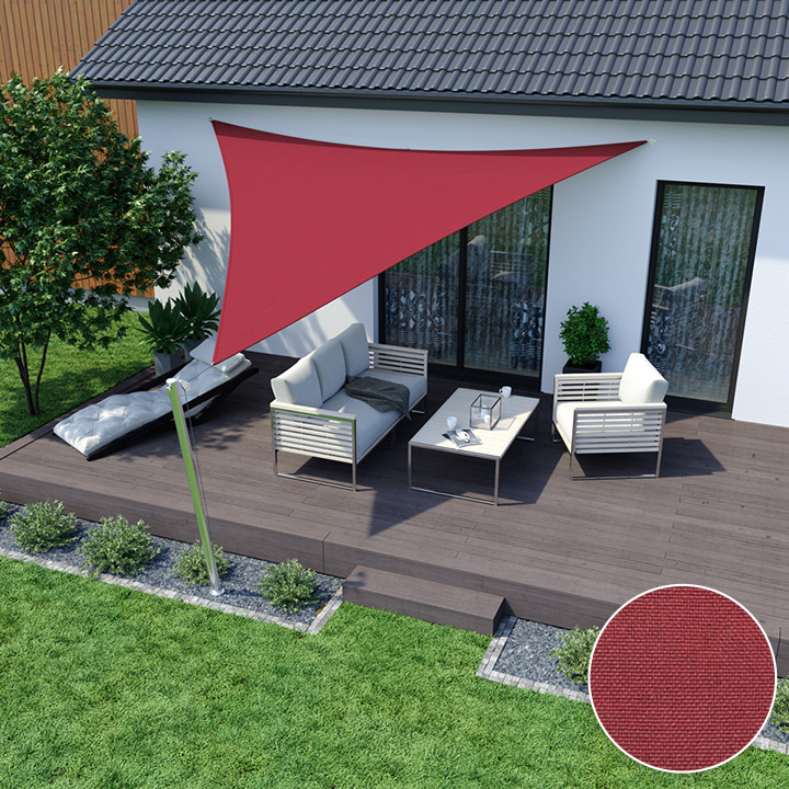 Toldo Vela Impermeable, Triangular, Rojo
