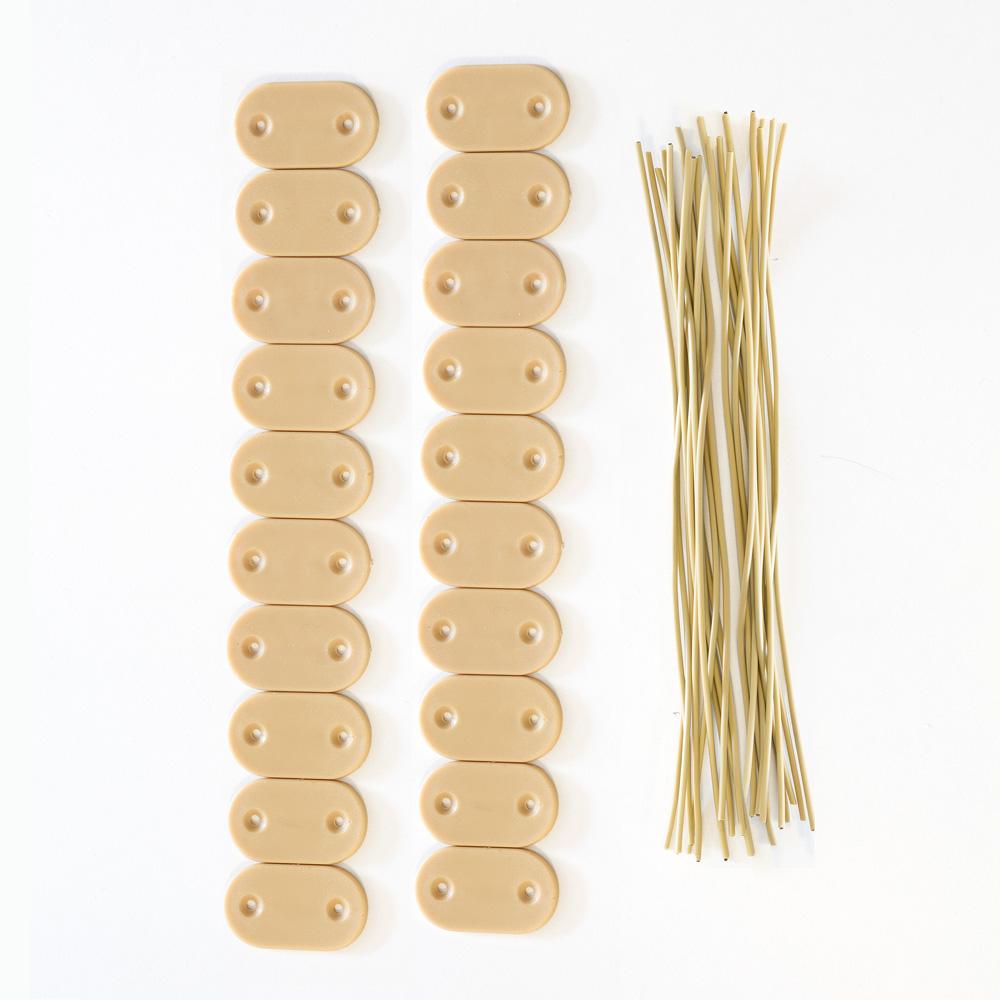 Kit de fijación para cañizos de PVC para jardín, Bambú