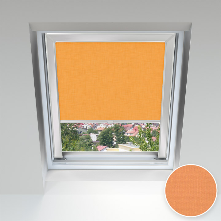 Estor para Ventanas de Tejado, A Medida, Naranja