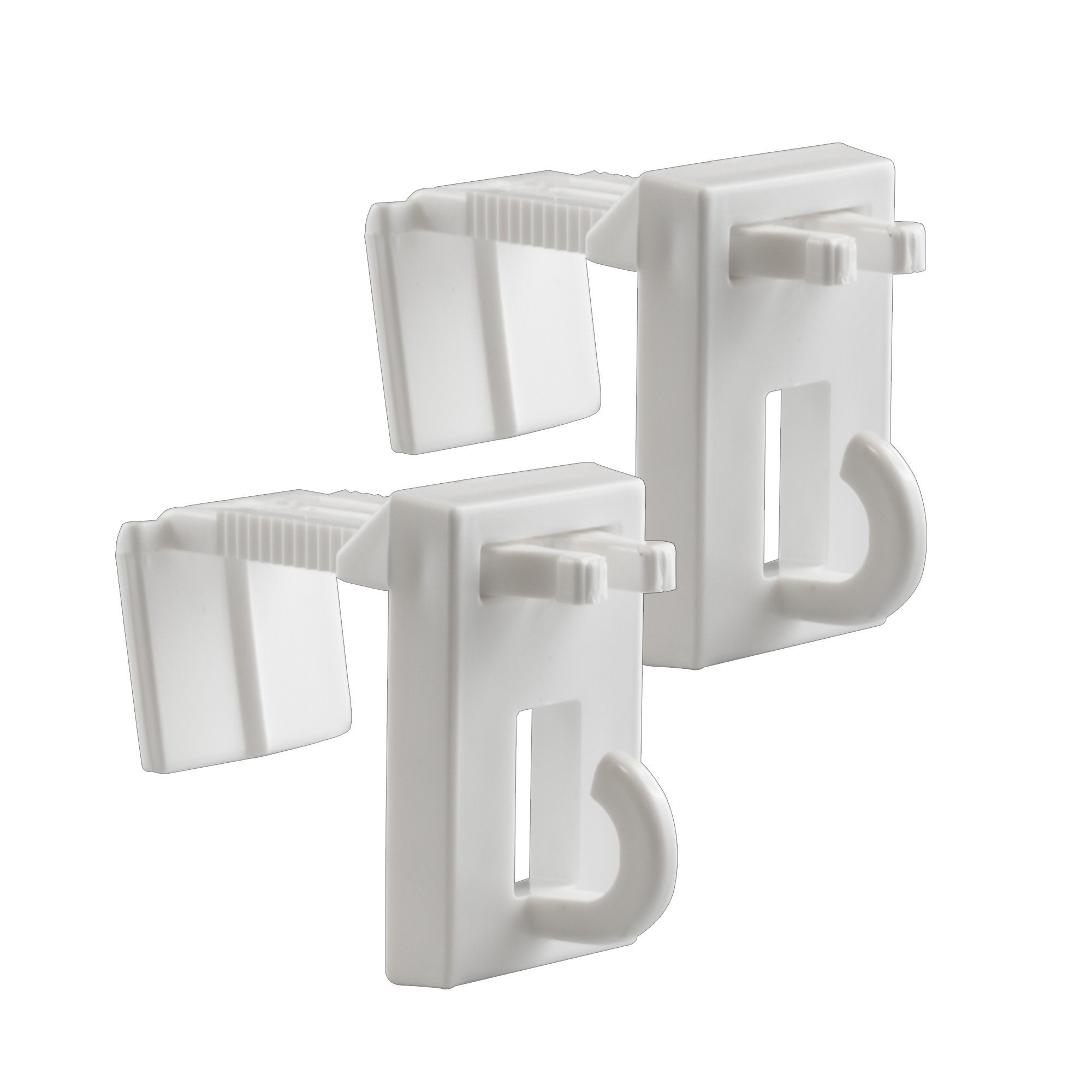 Soportes de Fijación EasyFit para los Estores de Bambú, Blancos, 2 Unidades